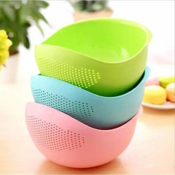 Rizzly New Rice, Fruit, Vegetable Washing Bol Strainer Colander