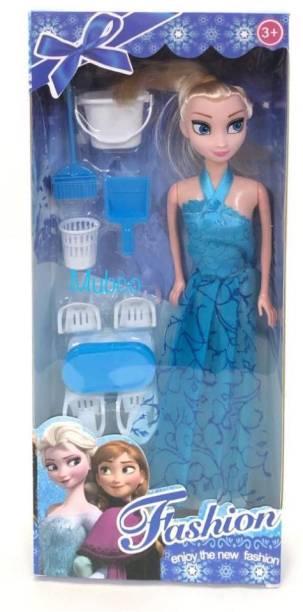 Mubco Frozen Series Elsa Doll Set Accessories - Blue