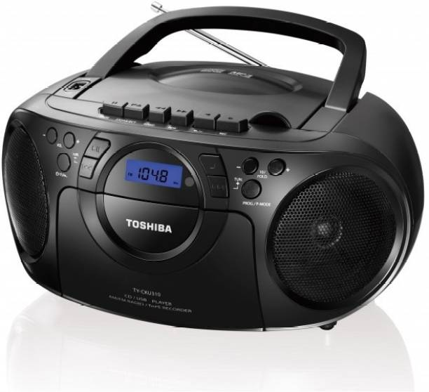 TOSHIBA Portable CD/USB Radio Cassette Recorder FM Radio
