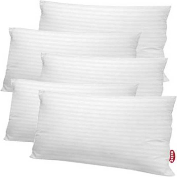 Feelcomfort Microfibre Stripes Sleeping Pillow Pack of 5