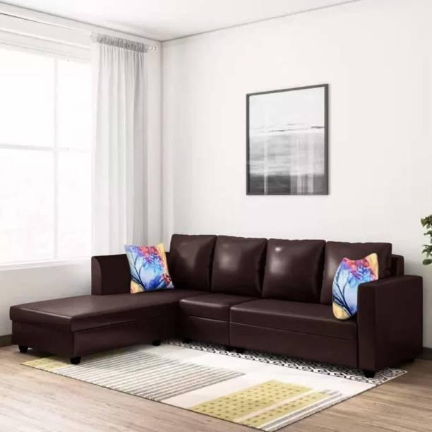 CasaStyle Carol LHS L Shape Leatherette 6 Seater  Sofa
