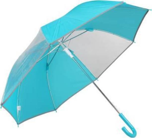 KrIyal enterprise Windproof Folding Transparent Umbrella For Rainy DayWindproof Folding Transparent Umbrella For Rainy DayWindproof Folding Transparent Umbrella For Rainy Day Outdoor Umbrella (BLUE) Umbrella