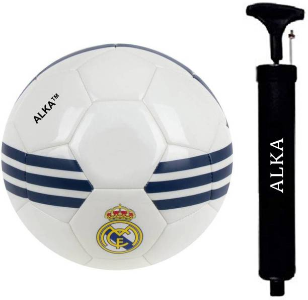 ALKA COMBO REAL WHITE FOOTBALL WITH PUMP Football - Size: 5