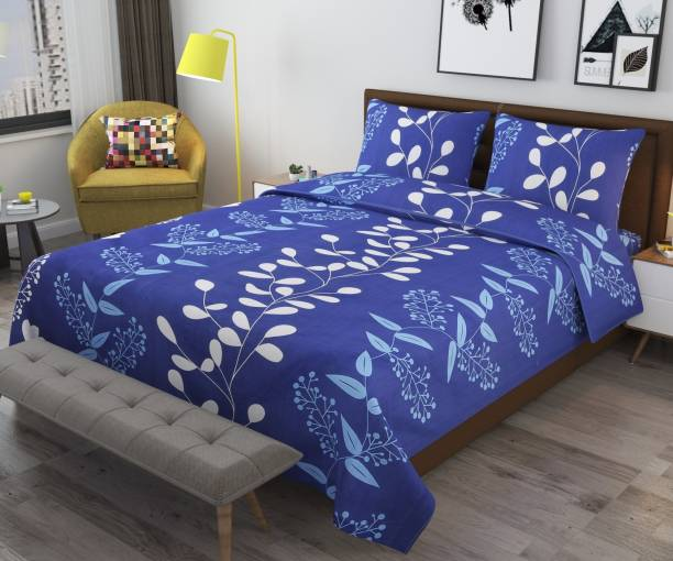 Monika 154 TC Cotton Double 3D Printed Bedsheet