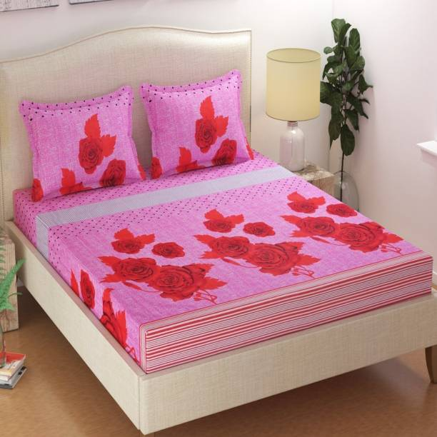 JEBY 140 TC Cotton Double King Abstract Bedsheet
