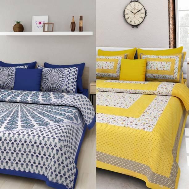 pushti enterprises 180 TC Cotton Double Printed Bedsheet