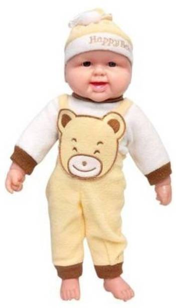 Mt hub Laughing Boy Doll, Press for Music, [Yellow-Brown]