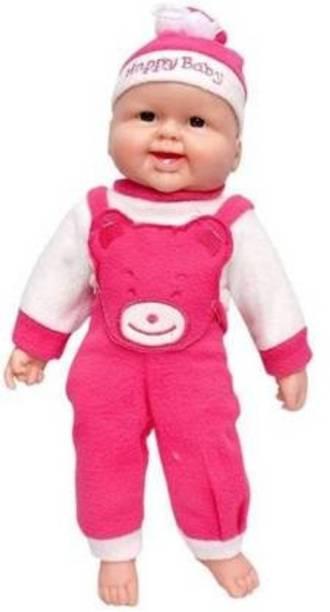 Mt hub Funny Laughing Sound, Boy Doll (Pink)