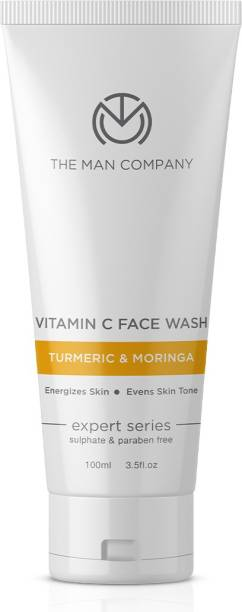 THE MAN COMPANY Vitamin C  for Turmeric and Moringa for Skin Brightening and Anti Ageing - No Paraben, Sulphate, Silicones, Color - 100ml Face Wash