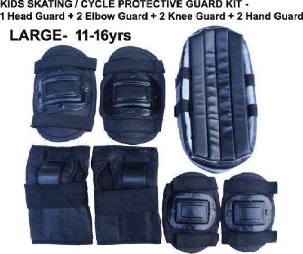 L'AVENIR Protective Skating / Cycling Guard Kit   Multi Sport Gear for Kids / Teens - LARGE (12-16yrs)   Head + Elbow + Knee + Hand Guards Skating Kit