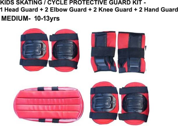 L'AVENIR Protective Skating / Cycling Guard Kit   Multi Sport Gear for Kids / Teens - MEDIUM (11-13 yrs)   Head + Elbow + Knee + Hand Guards Skating Kit