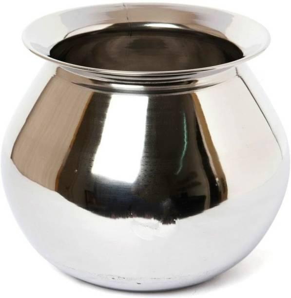 subaa subaa Stainless Steel Pongal Pot/Gundu/Cooker/Handi 4 litres (Medium) with Lid Handi 3 L with Lid