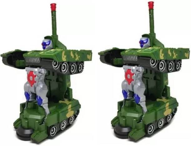 KANCHAN TOYS Combat Tank With Light And Musical Sound Toy For Kids Pack of 2