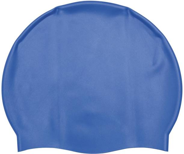 NHR Waterproof Silicone Swimming Cap for Kids & Adults (Blue, Pack of 1) Swimming Cap