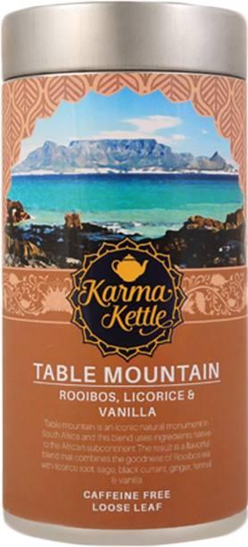 Karma Kettle Table Mountain Herbal Tea with Rooibos, Licorice, sage, Fennel & Vanilla, Natural Detox Herbal Tea Tin
