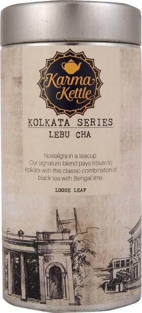 Karma Kettle Lebu Chai with Assam Black Tea, Lemon Peel, Leaf and Gondhoraj Peel Black Tea Tin