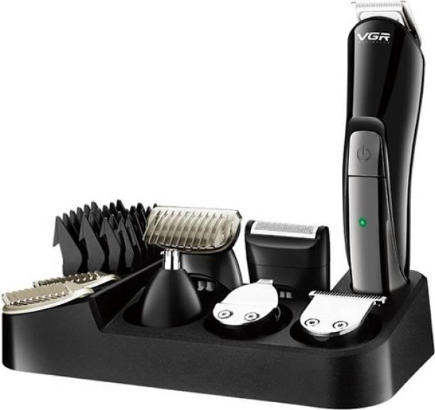 VGR V-012 Professional Cord & Cordless Grooming Kit  Runtime: 120 min Trimmer for Men
