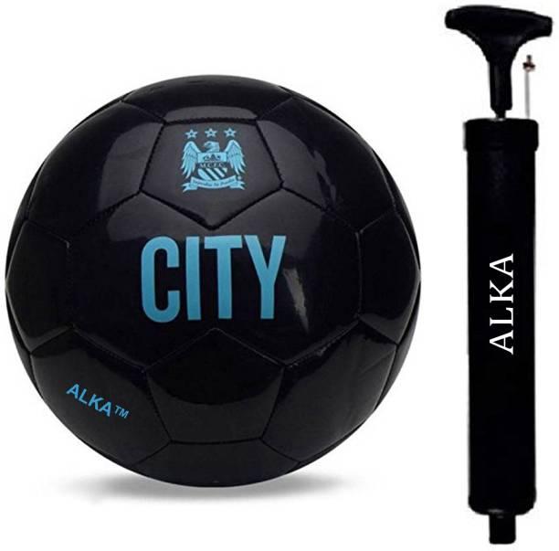 ALKA COMBO CITY BLACK FOOTBALL WITH PUMP Football - Size: 5