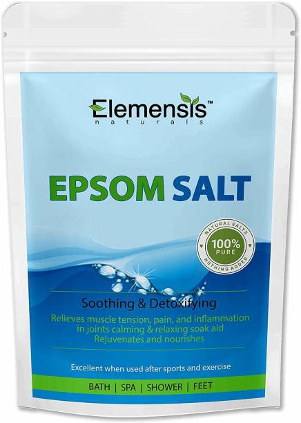 Elemensis Naturals Epsom Salt (Magnesium Sulphate) For Bathing, Relaxing Foot and Pain Relief Therapeutic Spa Treatment & Refreshing Body (500gm, Pack of 2)