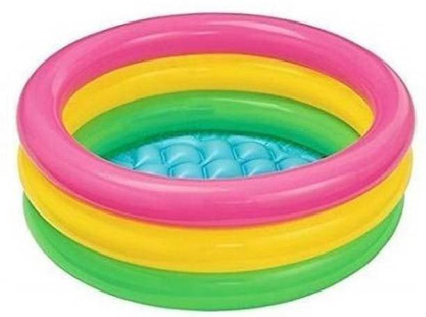 kashish trading company inflatable 2 feet swimming pool for kids, children age group (2-6) years Free-standing Bathtub
