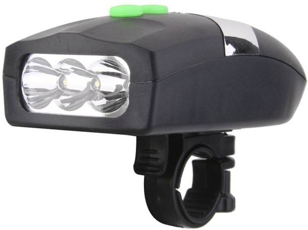 WEBDOO INFOTECH Ultra Bright 3 LED Bike Cycling Front Head Light Lamp With Electronic Bell Horn Bell
