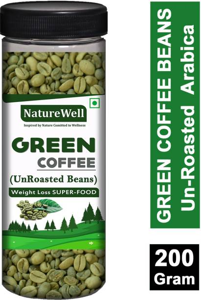 Naturewell Green Coffee Beans for Weight Loss (Unroasted) 200 Gram Coffee Beans