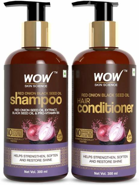 WO SKIN SCIENCE Red Onion Black Seed Oil Shampoo+Conditioner