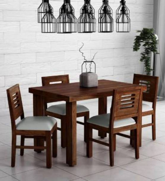 bharat furniture house Sheesham Wood Dining Table Solid Wood 4 Seater Dining Set