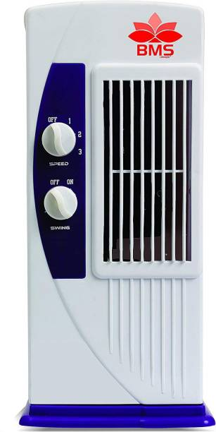 BMS Lifestyle Personal Oscillating Table Tower Fan – Small, Quiet, Portable, Electric Plug-In, Mini Desktop Fans for Staying Cool at Home and Office, Day and Night Tower Fan