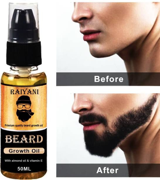 Raiyani Advanced Beard Growth Oil for Men - (Almond & Thyme) for Beard Growth - hair oil Hair Oil