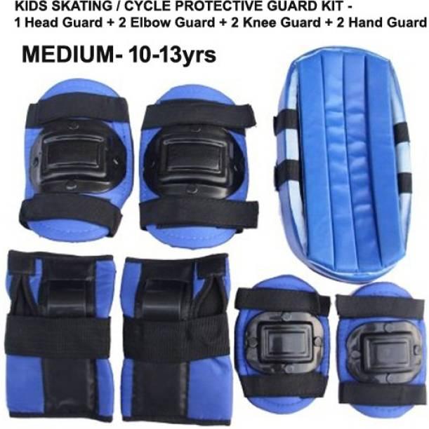 L'AVENIR Protective Skating / Cycling Guard Kit   Multi Sport Gear for Kids / Teens - MEDIUM (10-13yrs)   Head + Elbow + Knee + Hand Guards Skating Kit