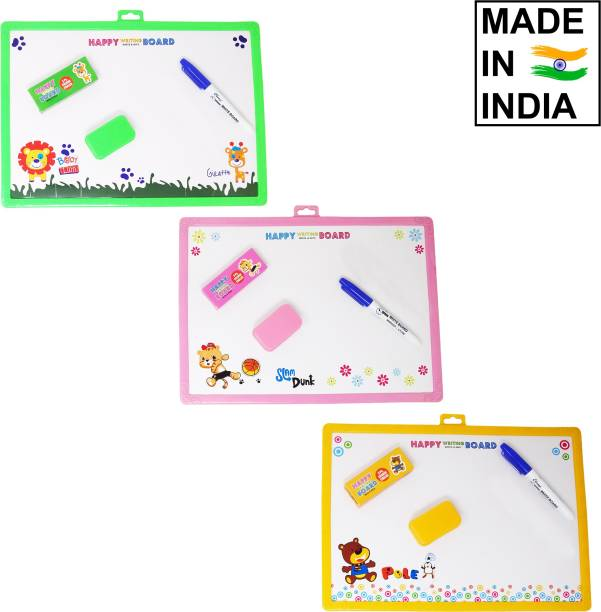 Parteet Learning Two in One Slate with White and Black Board for Kids