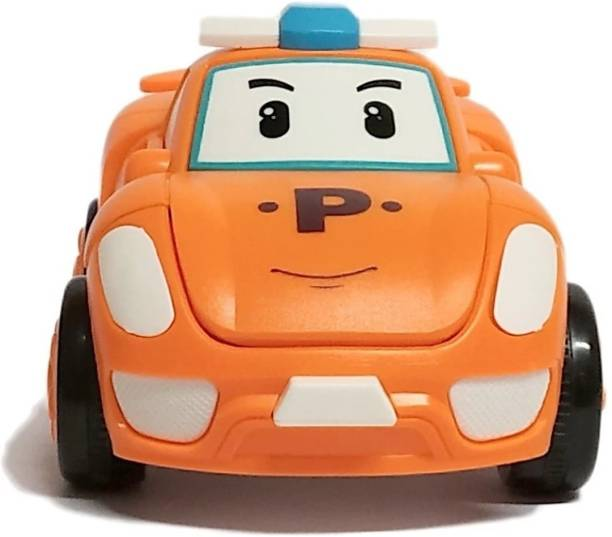 use & rely Unbreakable Friction Adorable Cute Bright Color Robotic Car Toy for Boys Girls Kids Babies Orange (Pack of: 1)