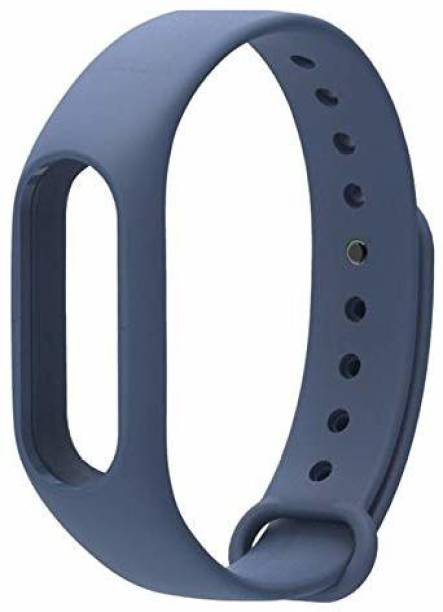 Dealfinity Soft Silicone Wrist Band Strap For M2 | Adjustable Xiaomi Mi Band 2 Strap | Fitness band Strap For M2 Band | Strap for Xiaomi Mi Band 2-Dark Blue (Device Not Included, Only For Mi Band 2) Smart Watch Strap