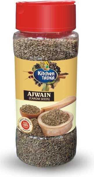 KITCHEN TADKA  Ajwain Seeds Carom Pack of 2 Easy Bottle Pack  100gm Each
