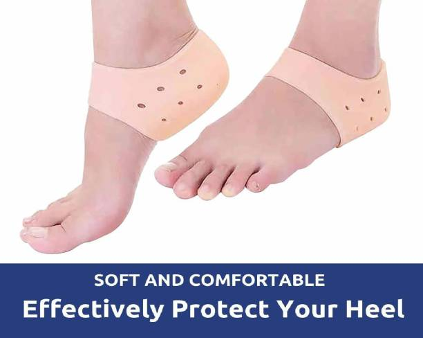 RFJ RCare Reusable Silicone Gel Heel for Dry Hard Cracked Heel Repair Pad (1 Pair) Heel Support