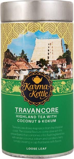 Karma Kettle Travancore Black Tea with kokum and Coconut - 75gm Loose Leaf Tin Black Tea Tin