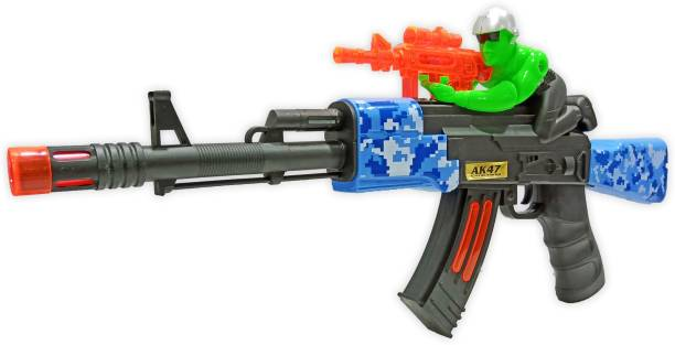 Toy Shack Light Up Double Shooter Blaster Toy Gun with Thrilling Multicolor LEDs and Sound Effects, Really Cool Play Gun for Boys and Girls Diwali Gun