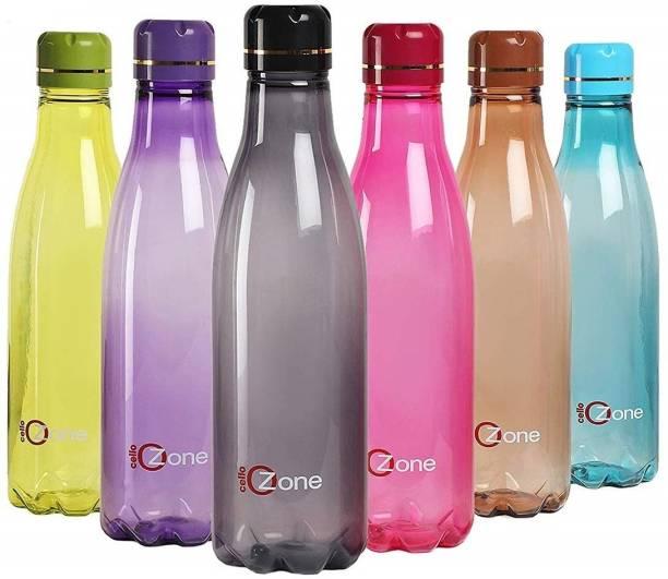 cello Ozone Plastic Water Bottle Set of 6 1000 ml Bottle