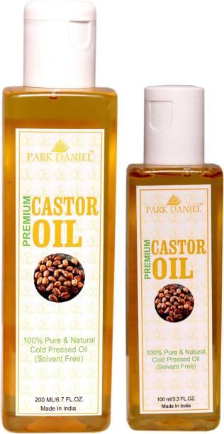 PARK DANIEL Premium Cold Pressed Castor Oil Combo Set(200 ml+100 ml)Bottles Hair Oil
