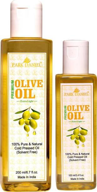 PARK DANIEL Extra Light Olive Oil- 100 % Pure and Natural Combo of 1 bottles of 200 ml and 1 bottle of 100 ml(300 ml) Hair Oil