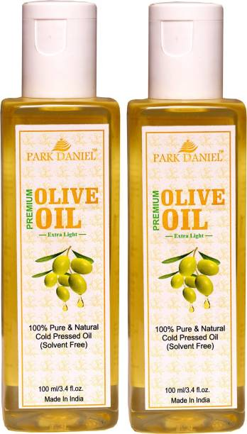 PARK DANIEL Extra Light Olive Oil- 100 % Pure and Natural Combo of 2 No.100 ml Bottles(200 ml) Hair Oil