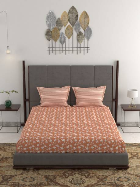 TRIDENT 120 TC Cotton Double Printed Bedsheet