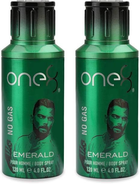 one8 by Virat Kohli Emerald Body Spray 120ml*2Pcs PE5421 Body Spray  -  For Men