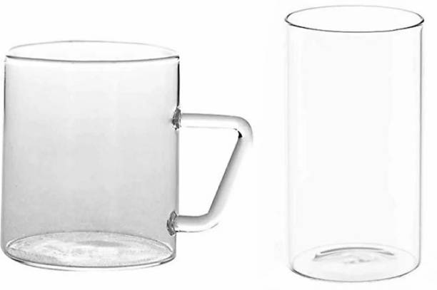 BOROSIL (Pack of 12) (ARDH SAINIK FOUNDATION) CLASSIC MUG SET6+VISION LARGE SET6 Glass