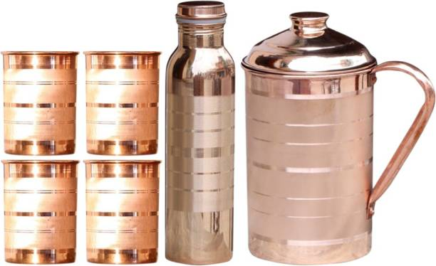 TORE ONLINE 1.5 L Water COPPER JUG +GLASS +BOTTLE Jug