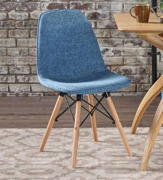 Finch Fox Callay Mid Century Eiffel Iconic Chair in Blue Colour Fabric Living Room Chair