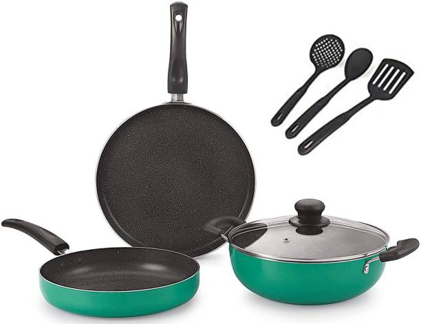 NIRLON Greenchef_Gift_Set Sauce Pan 25.5 cm, 19 cm diameter with Lid