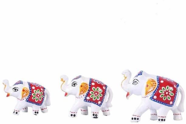 BHAGWATI HANDICRAFTS Rajasthani Handcraft Home Décor elephan showpiece Decorative Showpiece  -  9 cm