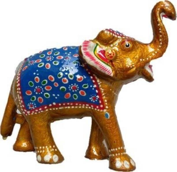 BHAGWATI HANDICRAFTS t 6 Inch Paper Mache Elephant Showpiece Decorative Showpiece  -  15 cm